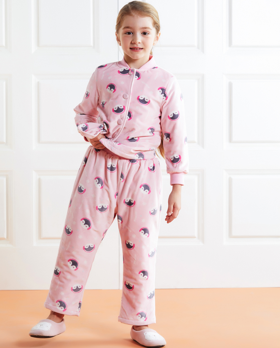 Aimer Kids睡衣|爱慕儿童暖暖企鹅家居长裤AK142245