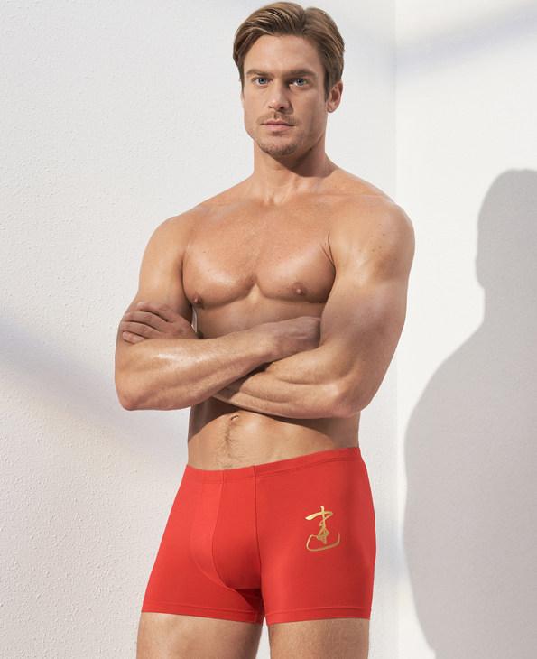 Aimer Men内裤|爱慕先生金标开运裤包腰平角内裤NS23C271
