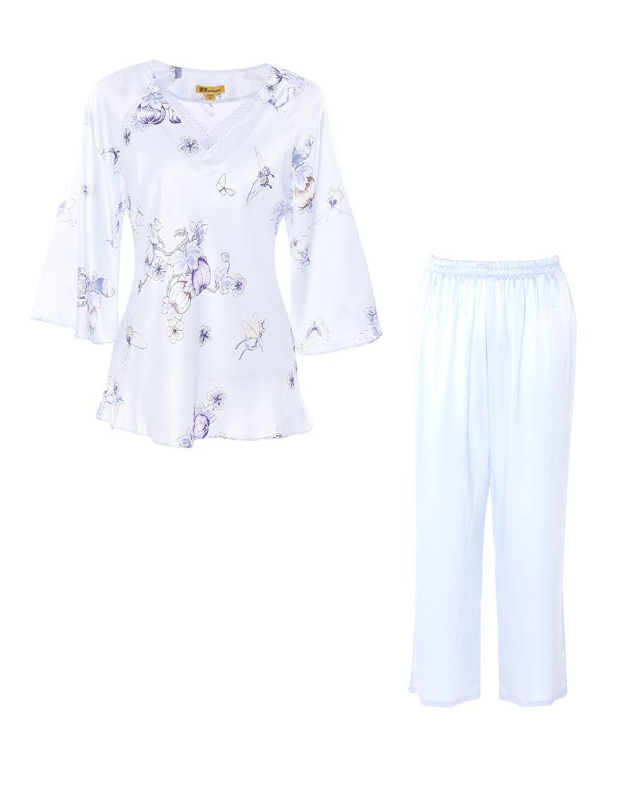 EMPEROR睡衣|皇錦蕾絲交疊領口分身套裝HJ21247