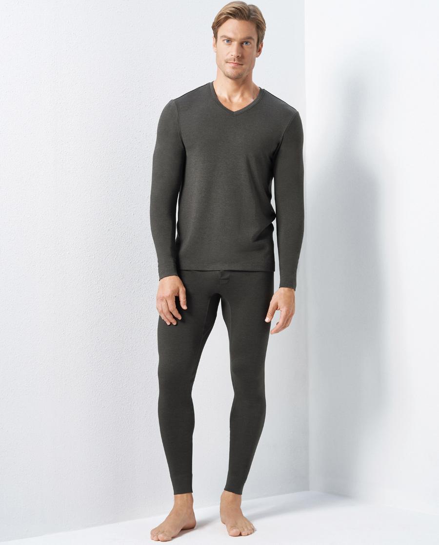 Aimer Men保暖|爱慕先生羊毛暖尚双层长裤NS73C942
