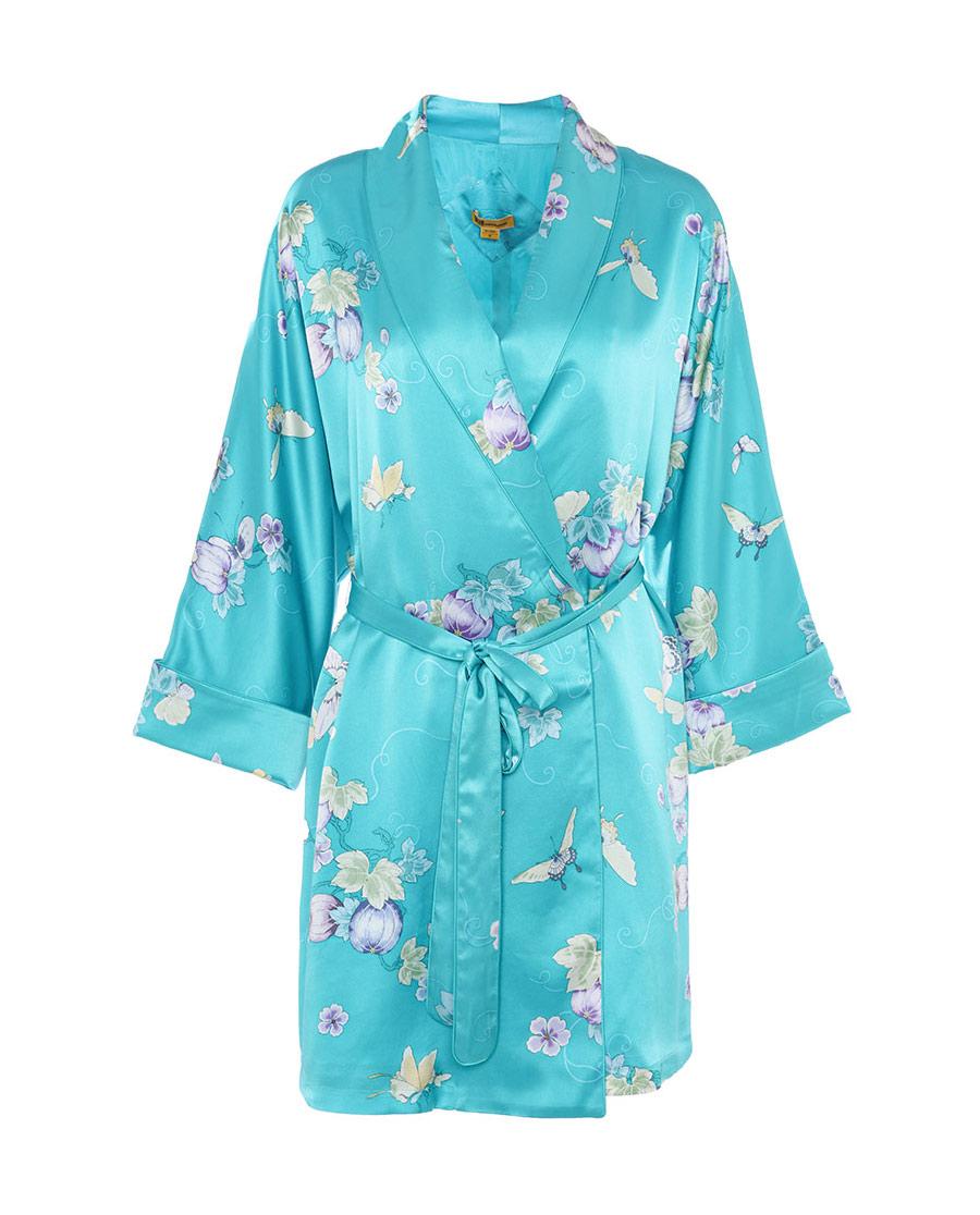 EMPEROR睡衣|皇錦印花香蕉領睡袍HJ21242