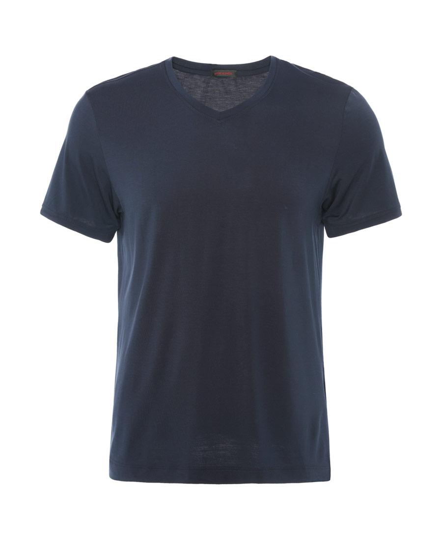 Aimer Men睡衣|爱慕先生莫代尔单品V领短袖上衣NS12B641