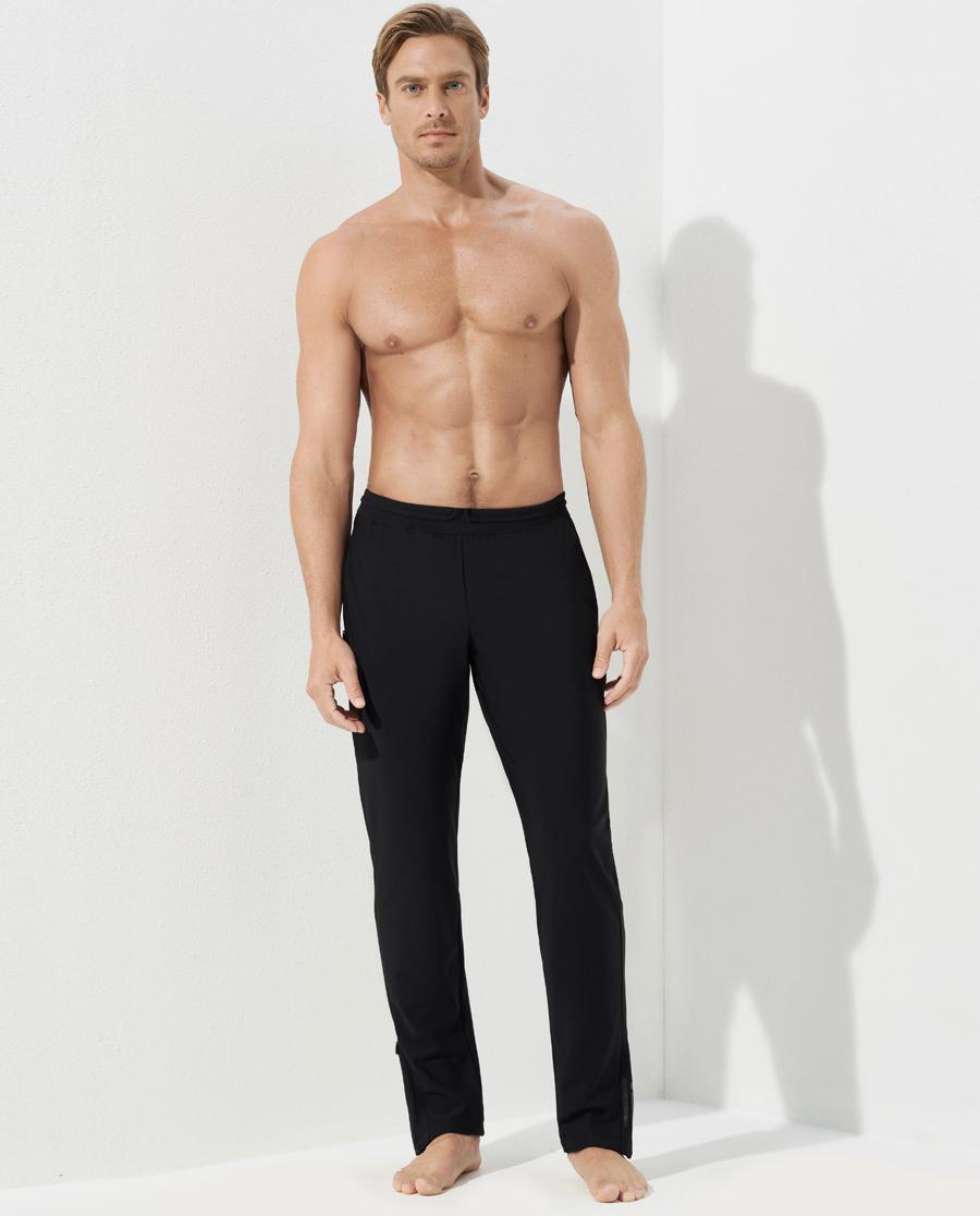 Aimer Men运动装|爱慕先生酷感运动中绒收口长裤NS63C8