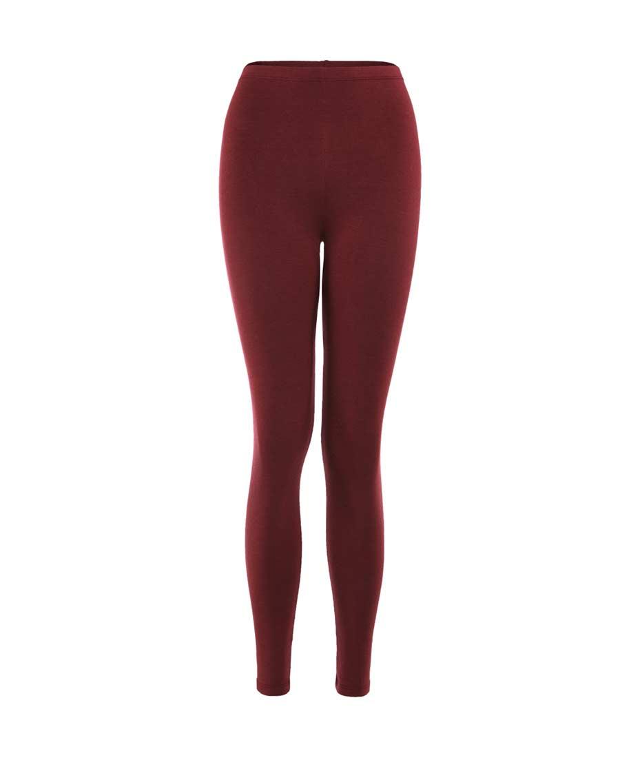 Aimer保暖 巴黎夫人红色暖裤单层基础款暖裤AM73385
