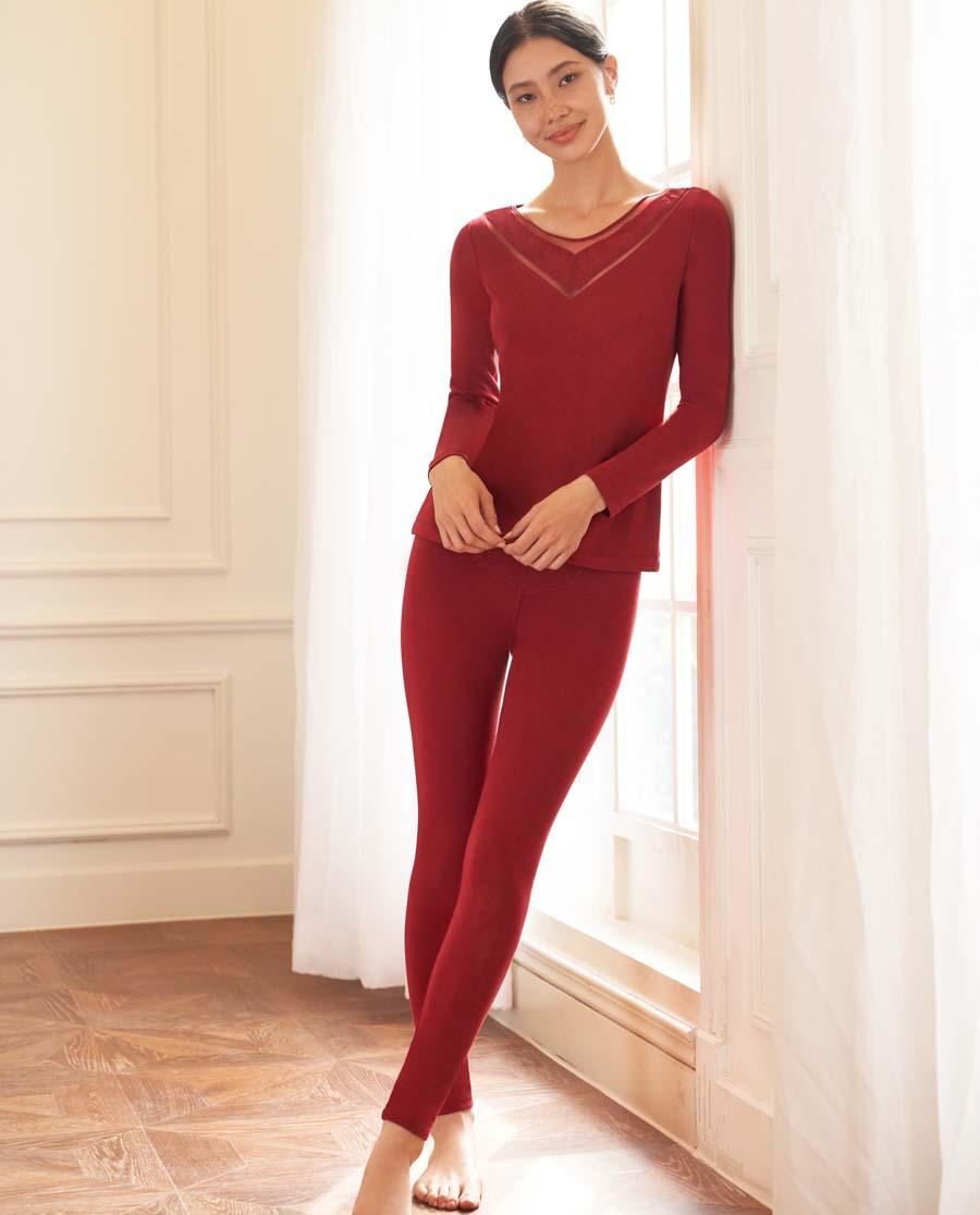 爱慕暖丝单层长裤AM733311