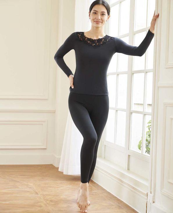 Aimer保暖|爱慕暖绒单层长裤AM733301