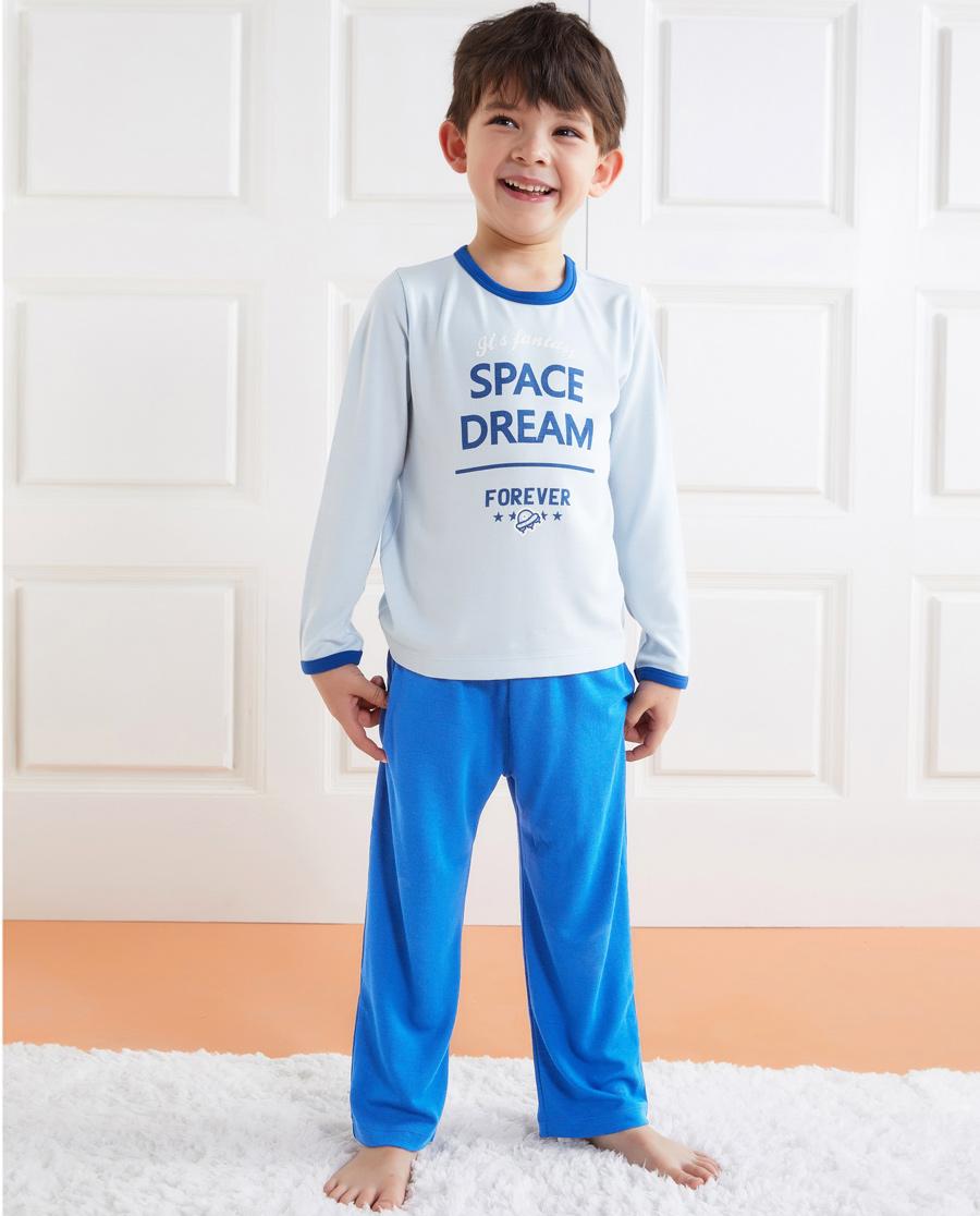 Aimer Kids睡衣 爱慕儿童太空梦想男童套头长袖睡衣AK24