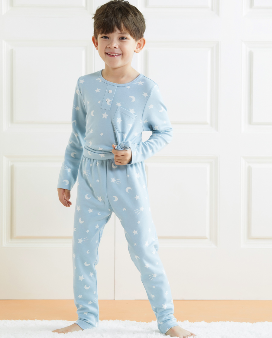 Aimer Kids睡衣 爱慕儿童星月传说男童家居长裤AK2422