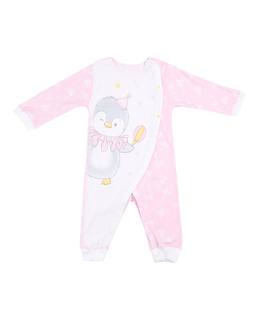 Aimer Baby保暖|愛慕嬰幼企鵝寶貝長袖連體爬服AB1751