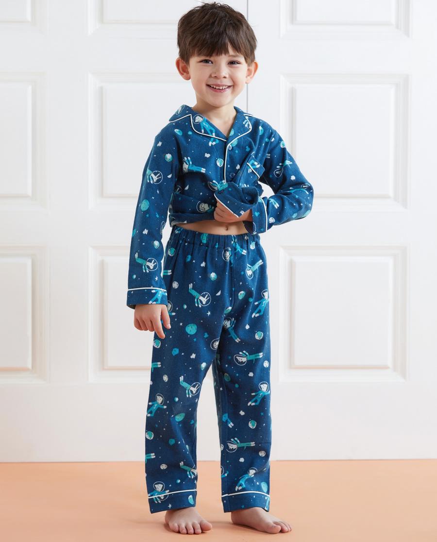 Aimer Kids睡衣 爱慕儿童太空步行者家居长裤AK24220