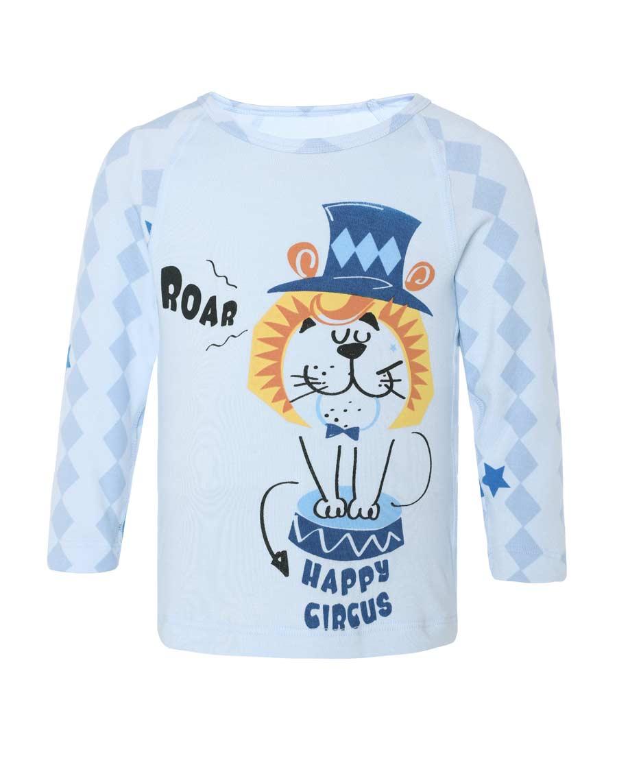 Aimer Baby保暖|ag真人平台婴幼趣味马戏团长袖上衣AB27217