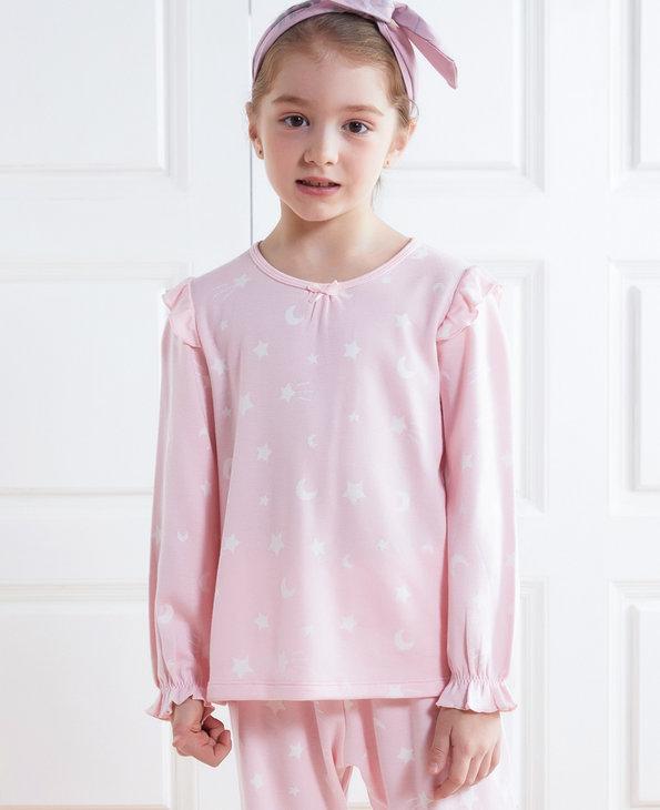 Aimer Kids睡衣|爱慕儿童星月传说女童套头长袖家居AK1412051
