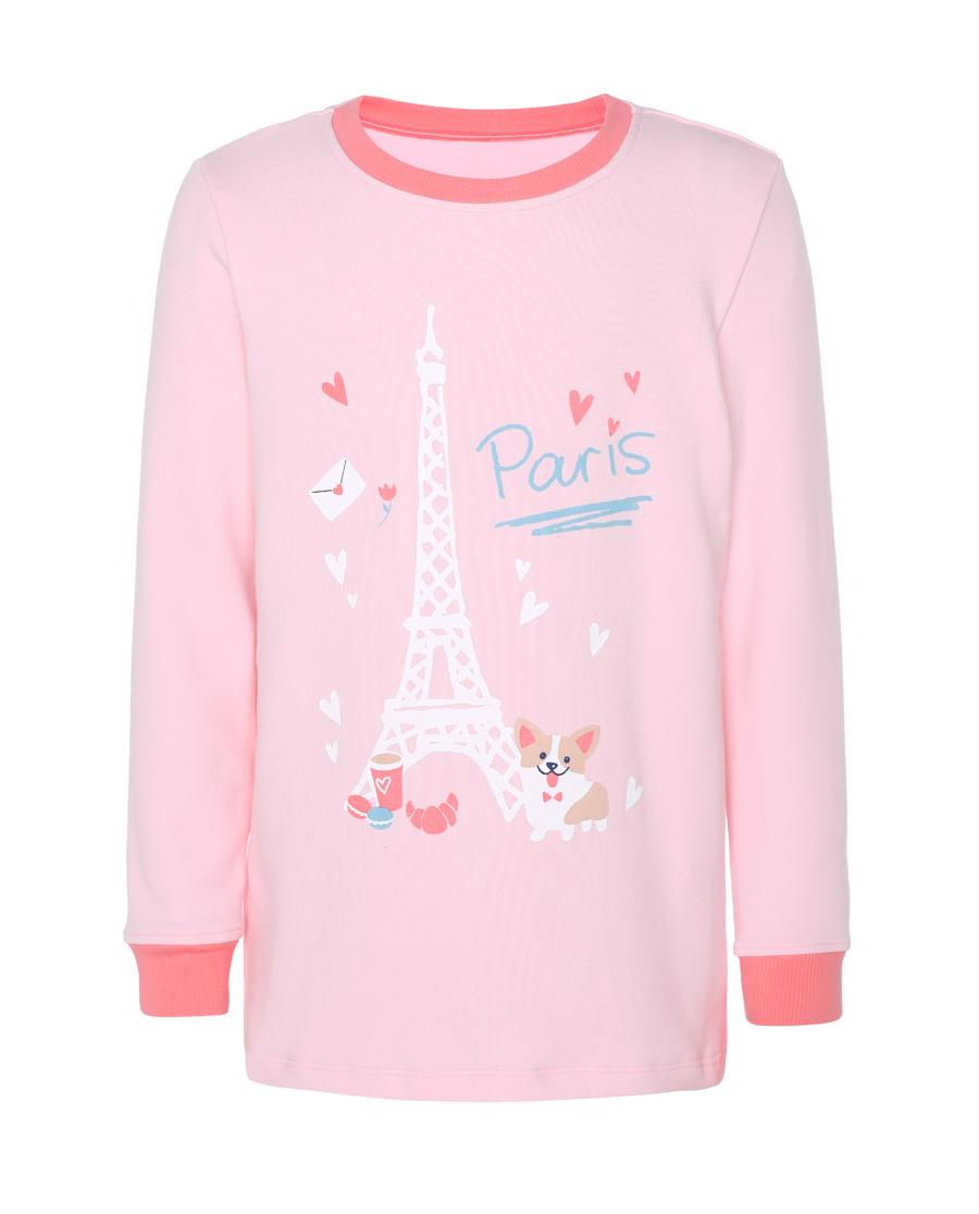 Aimer Kids保暖|爱慕儿童漫步巴黎女童长袖上衣AK1722