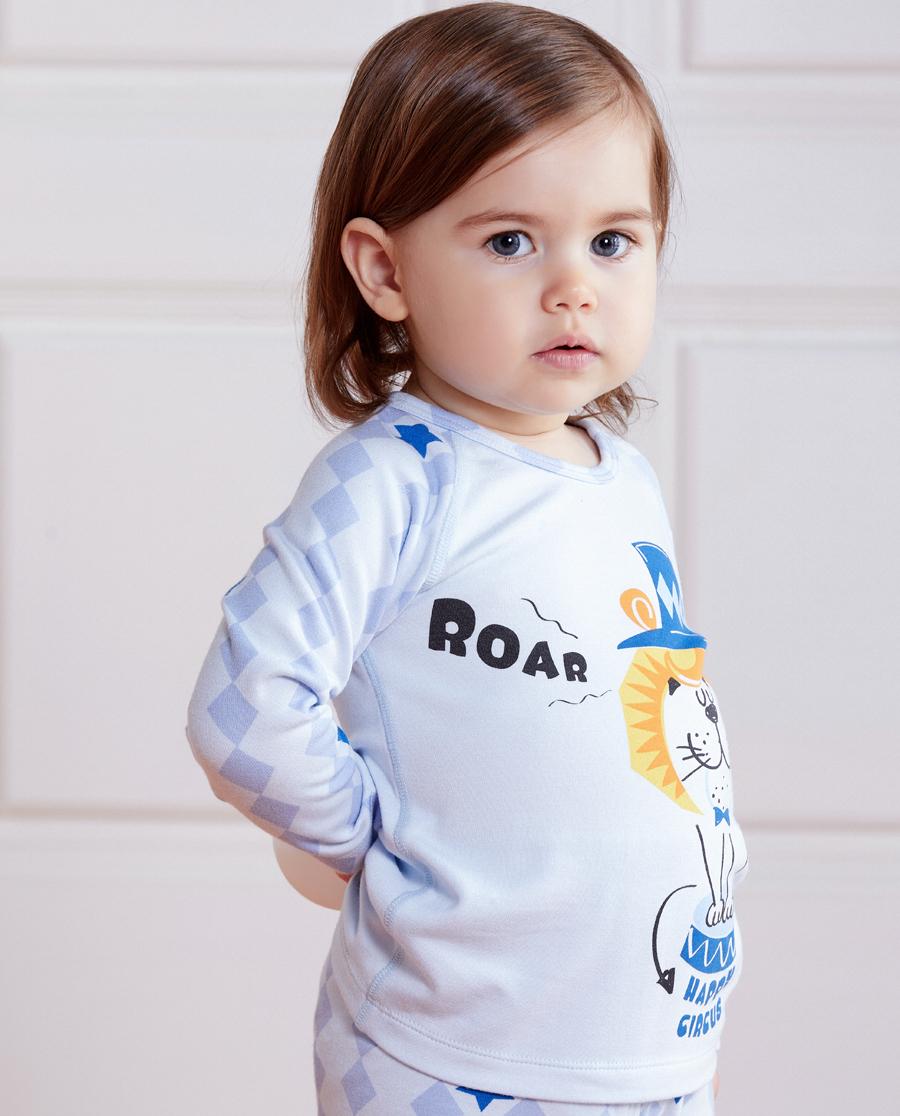 Aimer Baby保暖|愛慕嬰幼趣味馬戲團長袖上衣AB27217