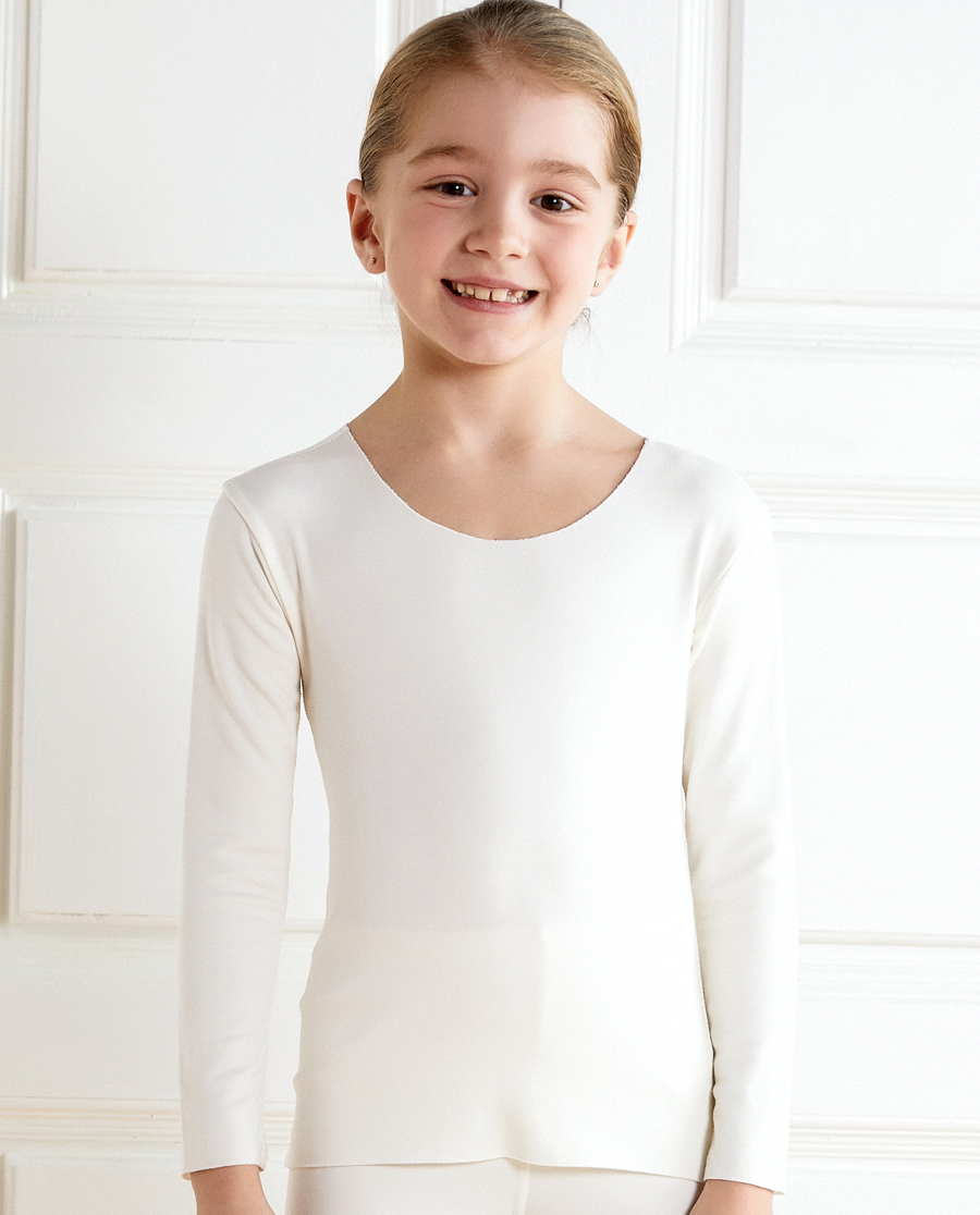 Aimer Kids保暖|愛慕兒童牛奶2長袖上衣AK3722491