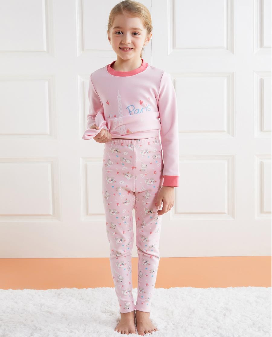 Aimer Kids保暖|愛慕兒童漫步巴黎女童長褲AK173217