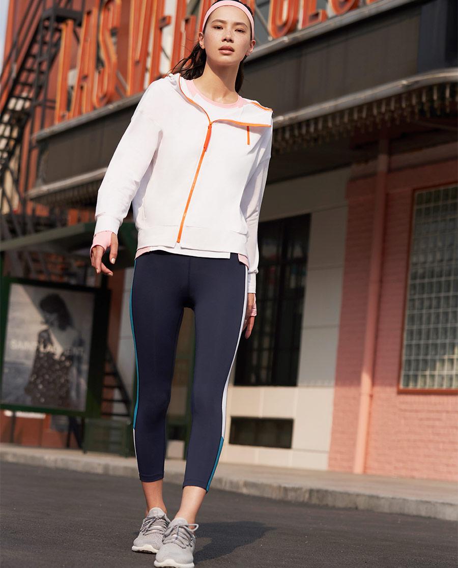 Aimer Sports運動裝|愛慕運動美力領跑拼接跑步八分褲AS153
