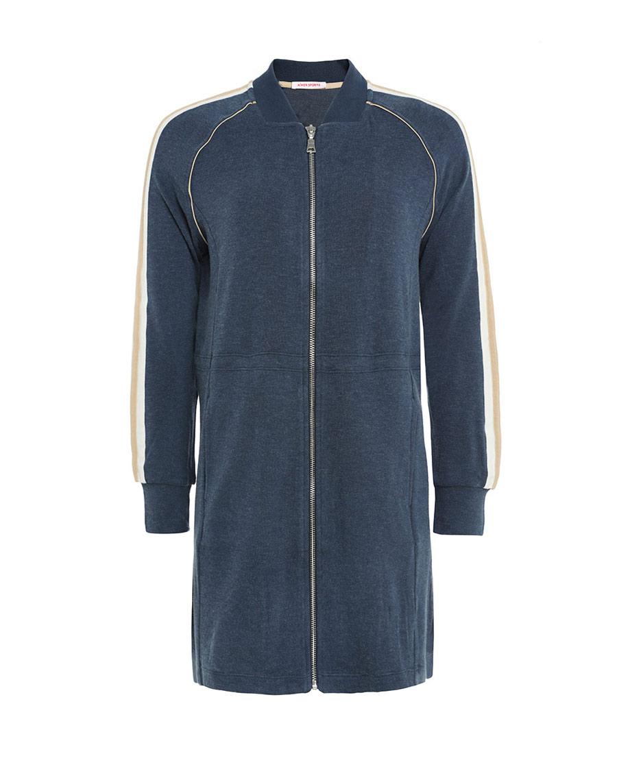 Aimer Sports运动装|巴黎夫人运动舒暖拉链休闲长外套AS144H6