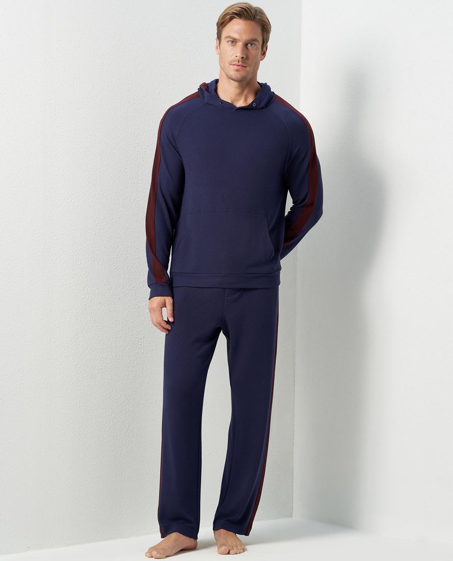 Aimer Men睡衣|亚洲城娱乐超柔活动服拼条长裤NS42C68
