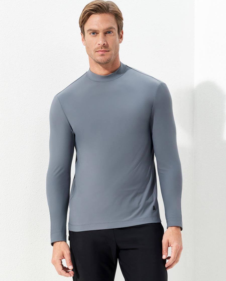 Aimer Men运动装|爱慕先生酷感运动小高领薄绒长袖NS62C