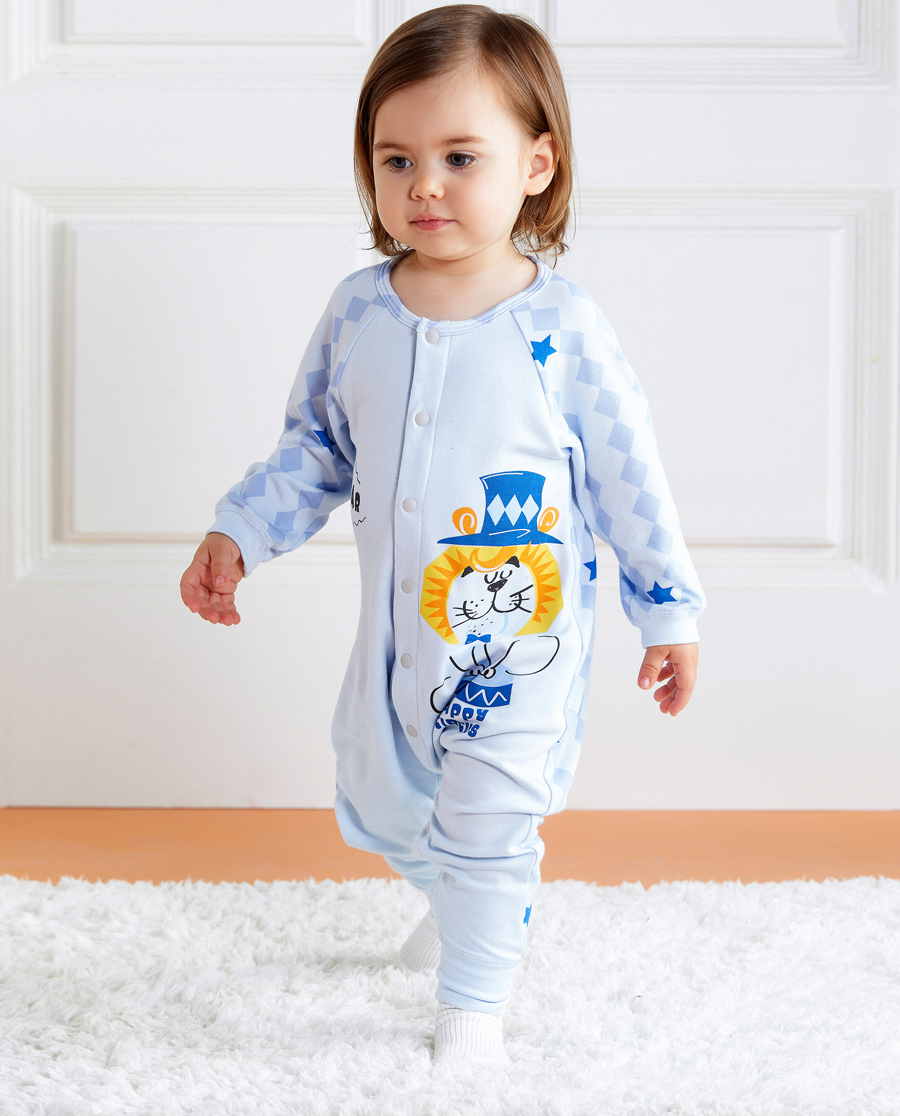 Aimer Baby保暖|爱慕婴幼趣味马戏团长袖连体爬服AB2751721
