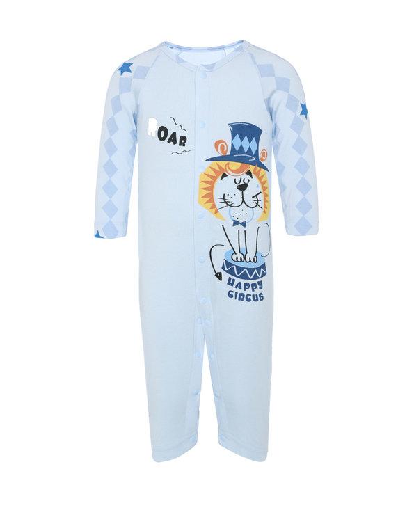 Aimer Baby保暖 爱慕婴幼趣味马戏团长袖连体爬服AB2751721