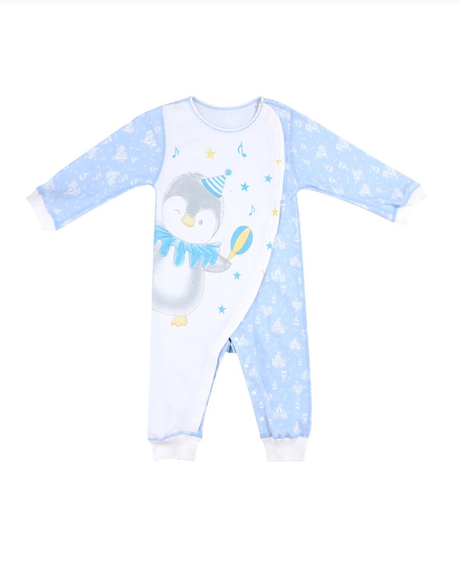 Aimer Baby保暖|愛慕嬰幼企鵝寶貝長袖連體爬服AB2751
