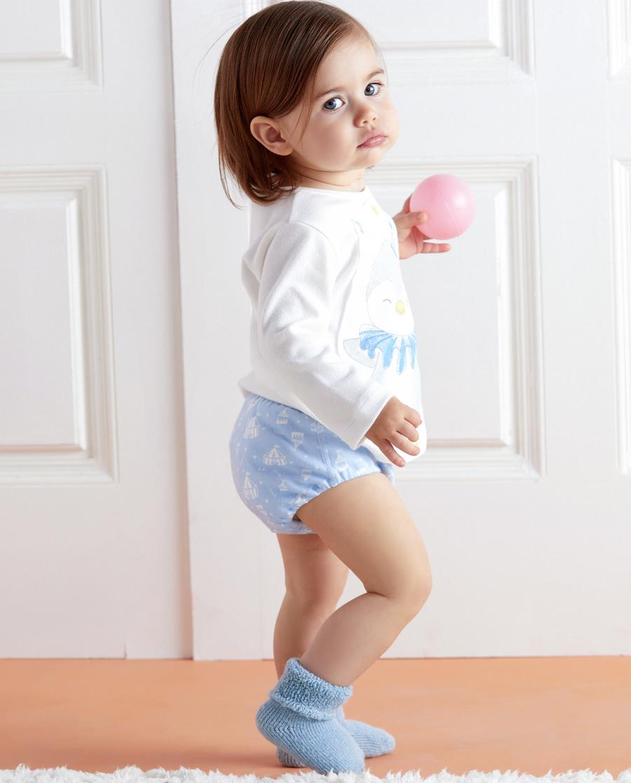 Aimer Baby內褲|愛慕嬰幼企鵝寶貝中腰三角面包褲AB222