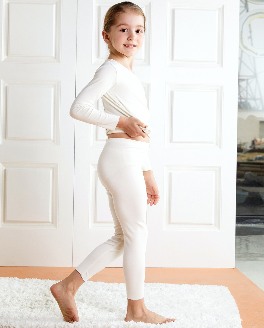Aimer Kids保暖|爱慕儿童牛奶长裤AK3732491