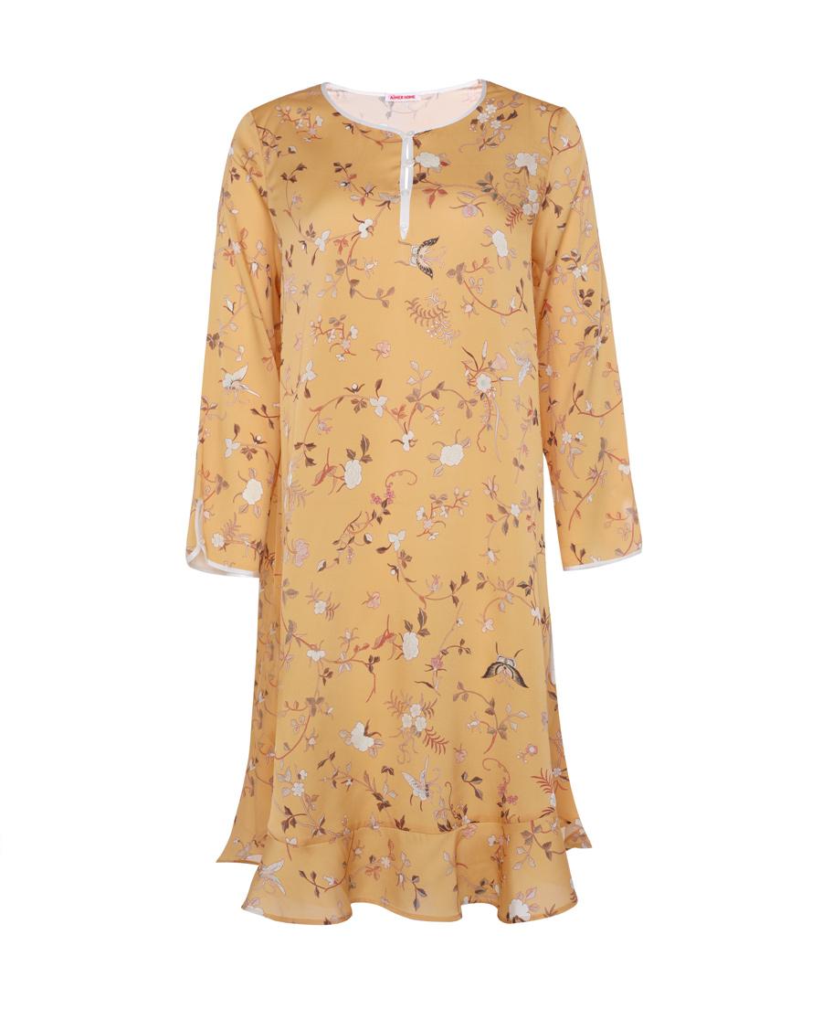 Aimer Home睡衣|爱慕家品锦瑟华裳九分袖睡裙AH44063
