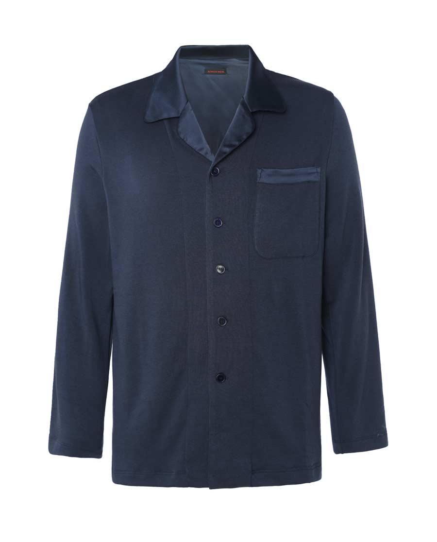 Aimer Men睡衣|爱慕先生暖绒家居开衫长袖NS41C721