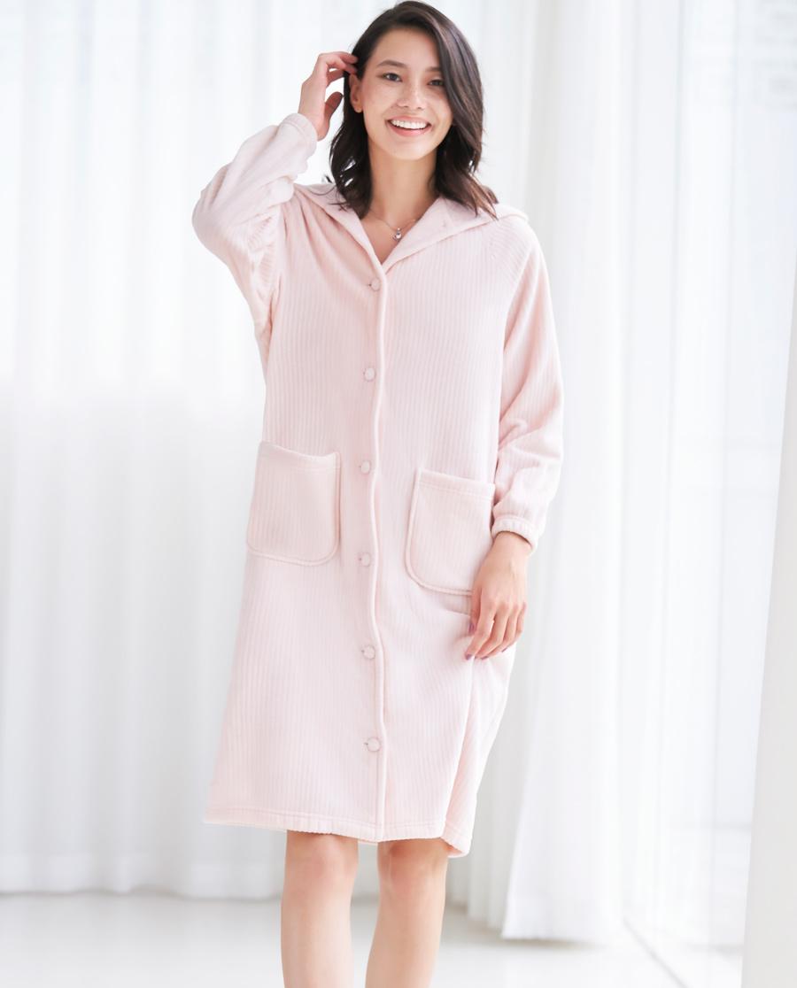 Aimer Home睡衣|愛慕家居珊瑚暖絨長袖睡袍AH480551