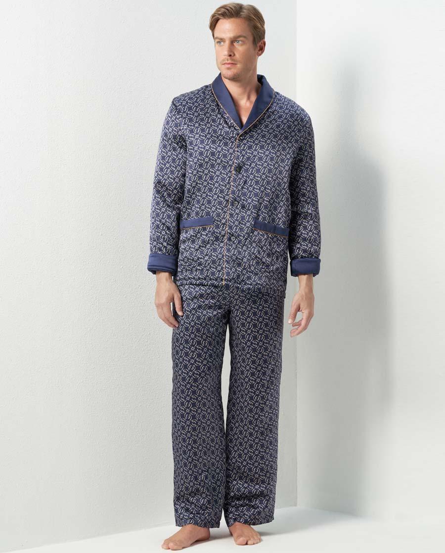 Aimer Men睡衣|爱慕先生真丝加厚家居长裤NS42C761