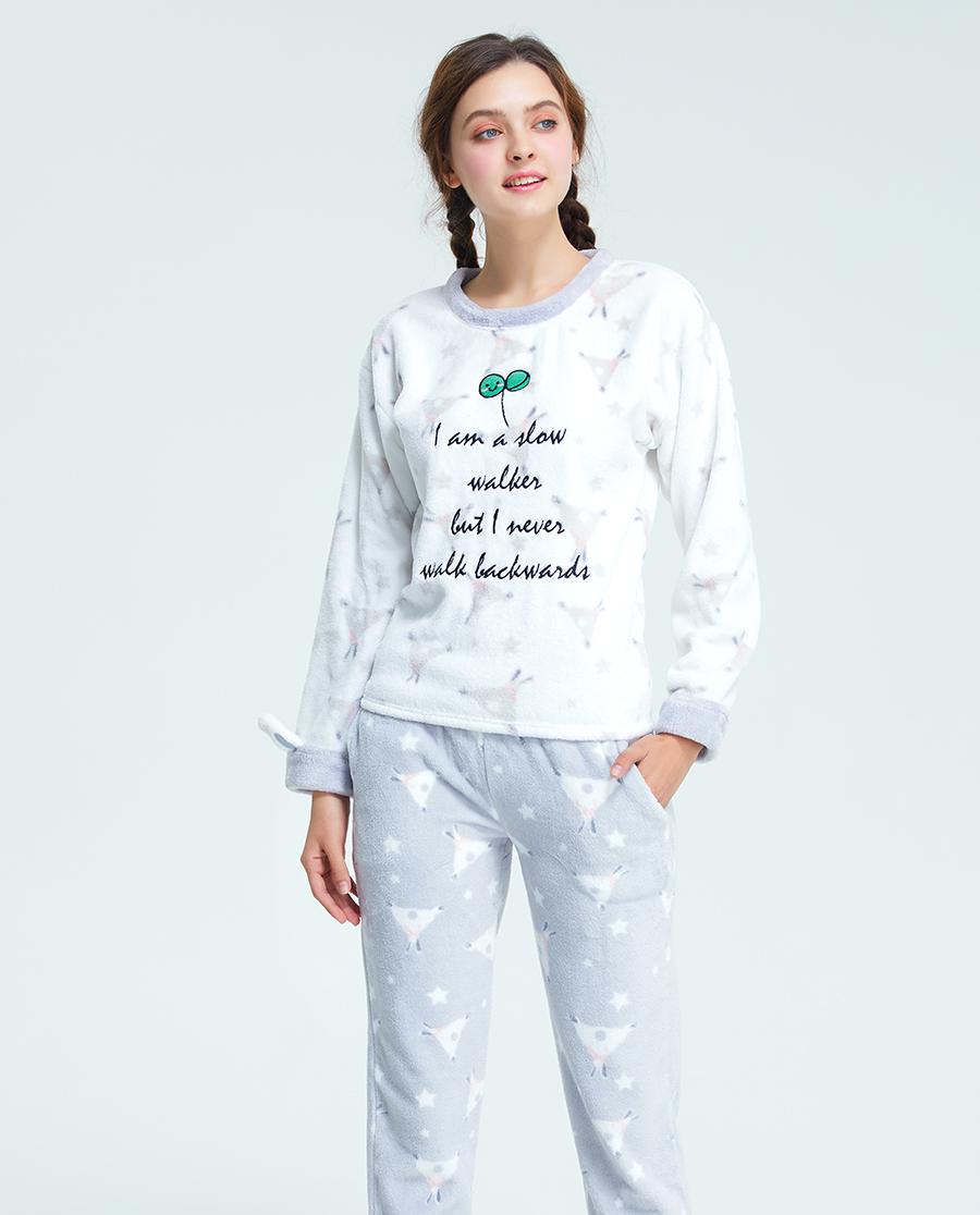 imi's睡衣|爱美丽Teen-家居兔子物语圆领套头长袖长裤套装IM46BMB1