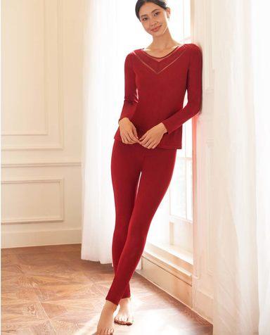 Aimer保暖|爱慕暖丝双层长裤AM733312