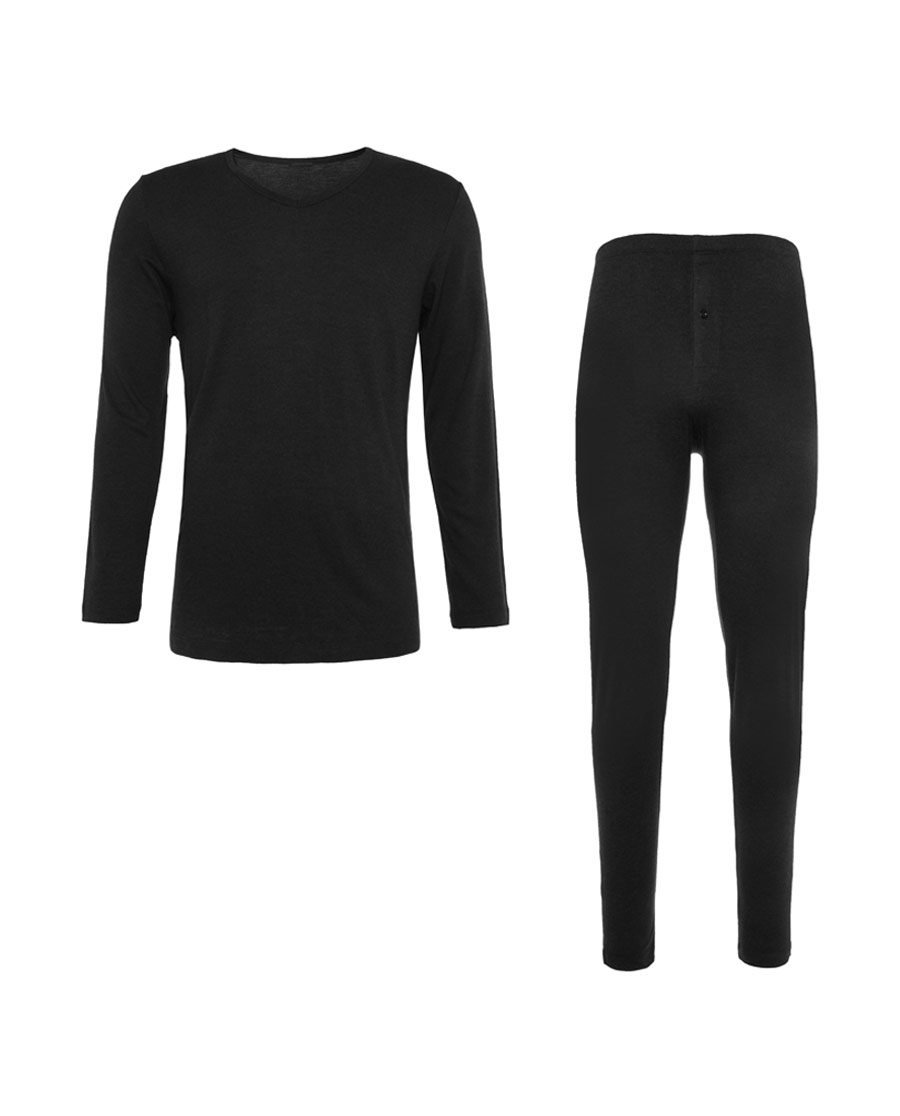 Aimer Men保暖|爱慕先生轻绒套装长袖长裤NS74D021