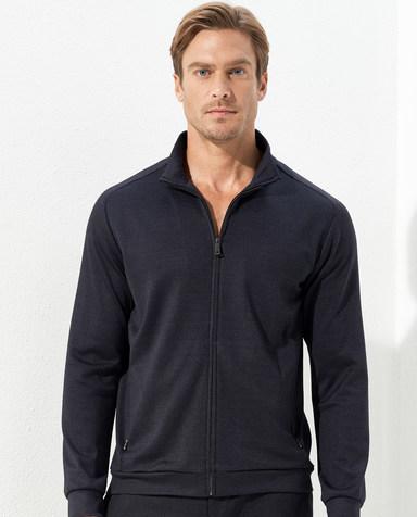 Aimer Men睡衣|爱慕先生金标真丝外穿立领拉链长袖NS81C801