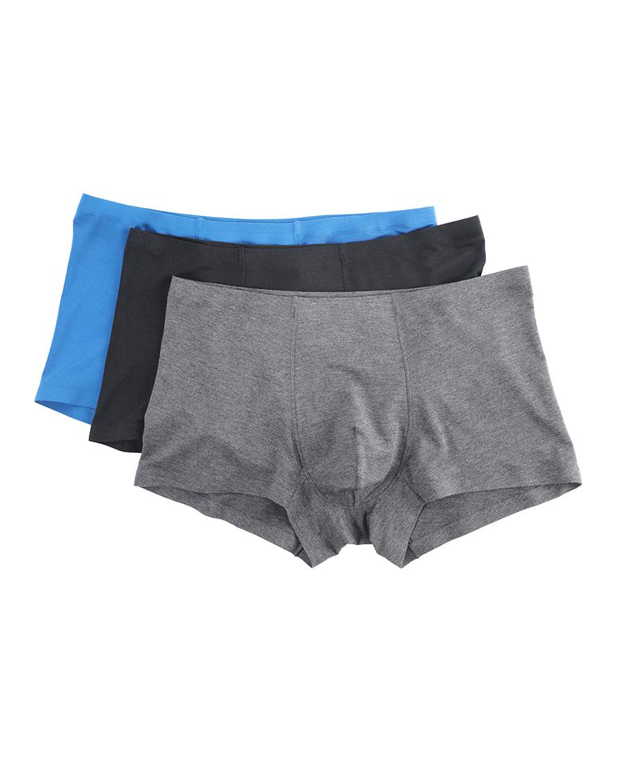 Body Wild內褲|寶迪威德莫代爾套包平角褲3件裝ZBN23