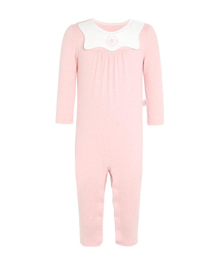 Aimer Baby保暖|愛慕植物條紋女嬰長袖連體爬服AB1751