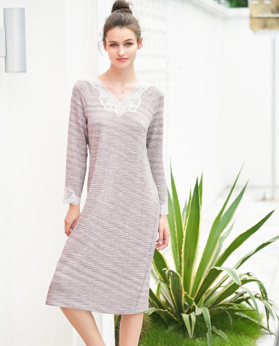 Aimer Home睡衣|愛慕家品趣動風尚九分袖家居裙AH4405