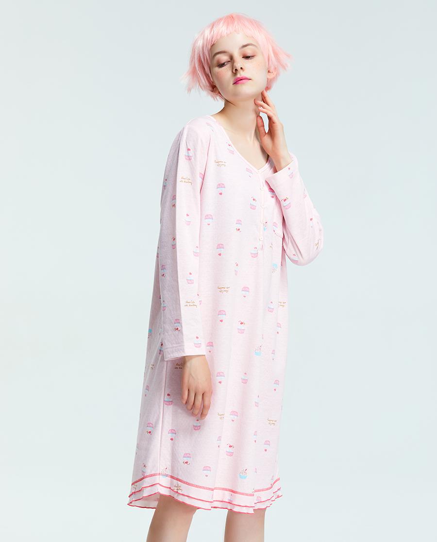 imi's睡衣|爱美丽家居甜品店圆领套头长袖睡裙IM44ATX1