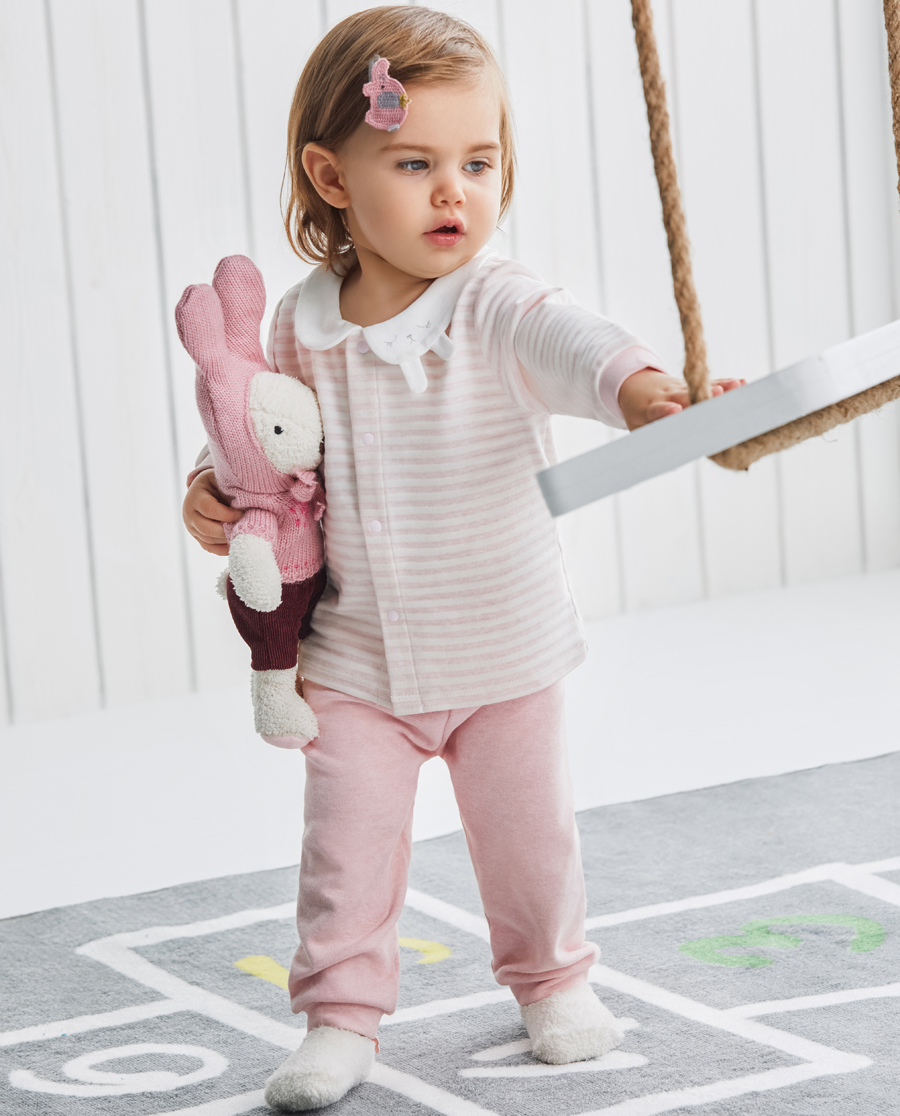 Aimer Baby保暖|爱慕儿童植物条纹女婴大屁屁裤AB1731