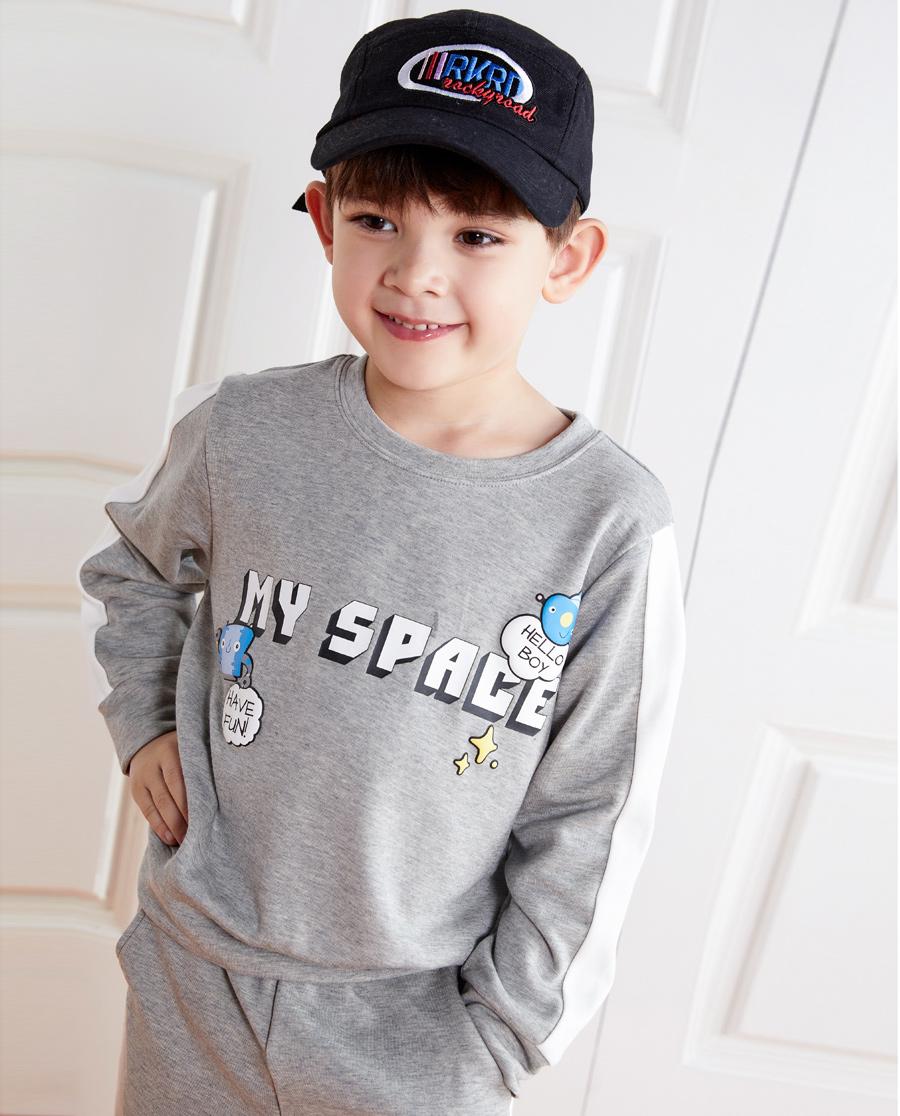 Aimer Kids睡衣|爱慕儿童牛奶套头长袖上衣AK241248