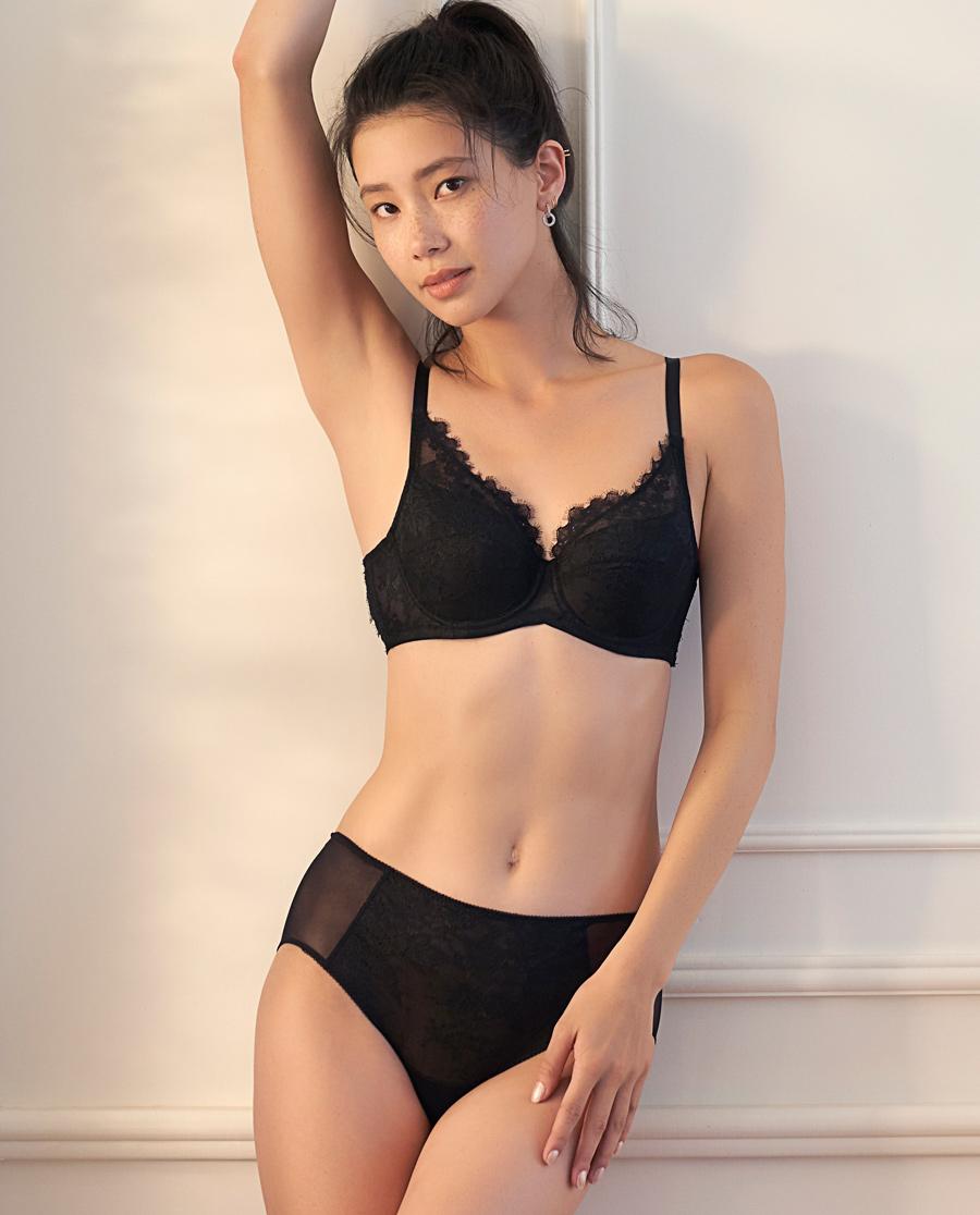 Aimer内裤|ag真人平台冬如夏花高腰平角内裤AM233581