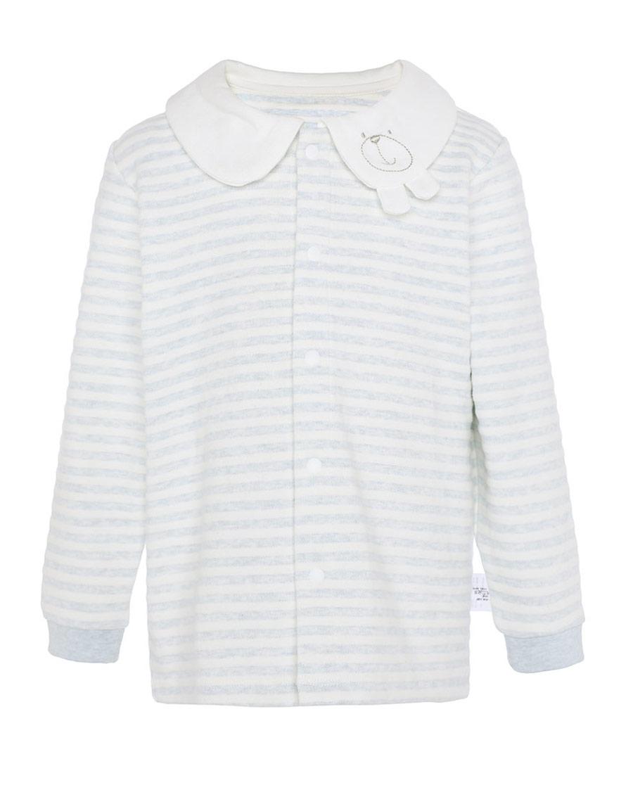Aimer Baby保暖|愛慕植物條紋男嬰開衫長袖上衣AB2721
