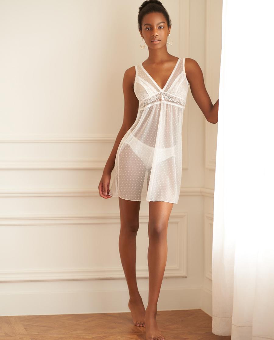 愛慕繆斯女神深V蕾絲吊裙AM423561