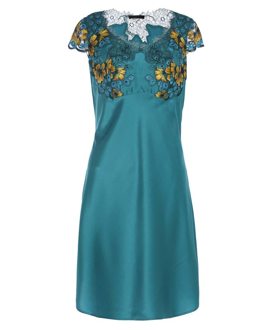 La Clover睡衣 LA CLOVER兰卡文灵犀雀动系列小袖睡裙LC44JX1