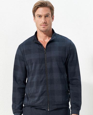 Aimer Men睡衣|爱慕先生羊毛外穿立领拉链长袖上衣NS81C791