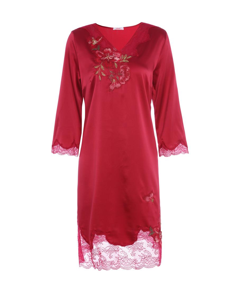 Aimer睡衣|爱慕花赏长袖睡裙AM443221