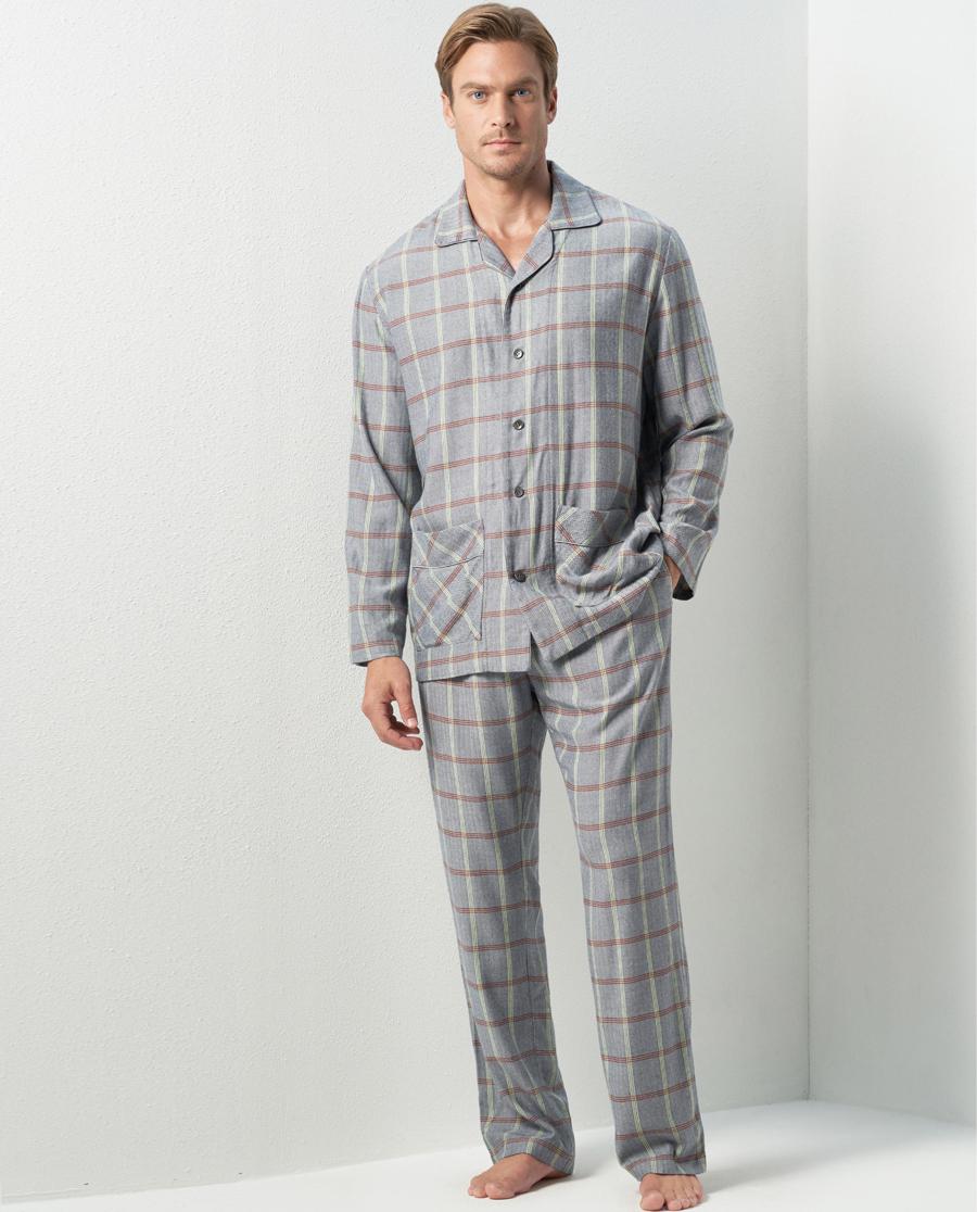 Aimer Men睡衣|巴黎夫人先生年轻格纹家居长裤NS42C671
